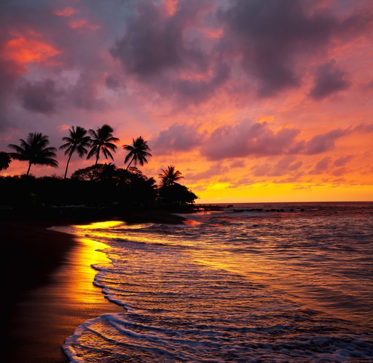 Tropical Maui Beach Sunset - Paradise Living Properties